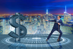 The businessman saving american dollar concept Royalty Free Stock Photos