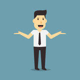 Businessman say no problem stock illustration