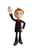 Businessman with saying hi pose Stock Photography