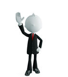 Businessman with saying hi pose Royalty Free Stock Photography