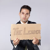 Businessman saying that he is the leader Stock Photography