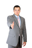 Businessman saying welcome Stock Photography