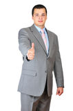Businessman saying welcome Royalty Free Stock Photography