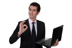 Businessman says everything is OK Royalty Free Stock Image