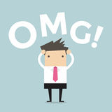 Businessman says oh my god! Royalty Free Stock Photos