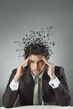 Businessman with scattered mind Stock Photography
