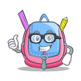 Businessman school bag character cartoon. Vector illustration Royalty Free Stock Photography