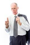 Businessman scolding somebody Stock Photo