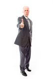 Businessman scolding somebody Stock Photography