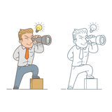 Businessman scouting Royalty Free Stock Images