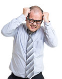 Businessman scratch head Stock Photos