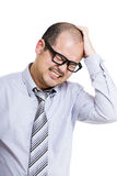 Businessman scratching his head Royalty Free Stock Photography