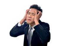 Businessman scratching his head Royalty Free Stock Photo