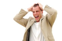 Businessman screaming Royalty Free Stock Images
