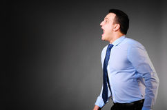 Businessman is screaming Royalty Free Stock Photo