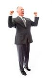 Businessman screaming in frustration isolated on white backgroun Royalty Free Stock Images