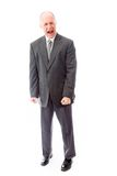 Businessman screaming in frustration isolated on white backgroun Royalty Free Stock Image