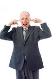 Businessman screaming in frustration Stock Image
