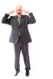 Businessman screaming in frustration Stock Photo