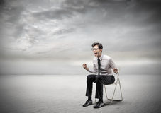 Businessman screaming royalty free stock photography