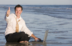 Businessman in Sea Royalty Free Stock Images