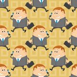 Businessman, seamless pattern Stock Image
