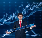 Businessman with search field Royalty Free Stock Photo