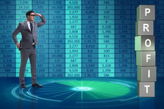 The businessman in the search for profits Stock Photo
