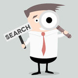 Businessman Search Sign Stock Image