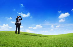 Businessman Searching Stock Photo
