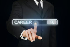 Businessman searching for career Royalty Free Stock Photos