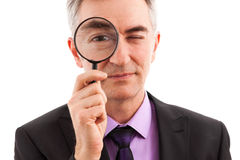 Businessman searching Royalty Free Stock Photography