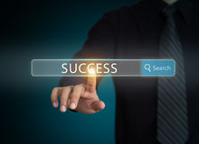 Businessman searching success in business Stock Images