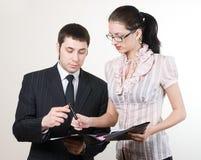 Businessman and secretary Stock Photo