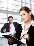 Businessman and secretary Stock Images