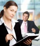 Businessman and secretary Stock Photography