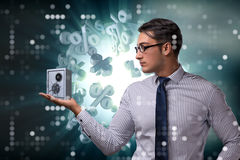 The businessman in security concept with safe Stock Image