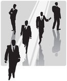 Businessman with security team Royalty Free Stock Images