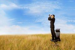 Businessman seeking job Royalty Free Stock Images