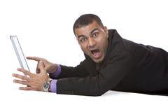 Free Businessman Sees Something Surprising On Laptop Stock Images - 11480524