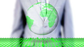 Businessman selecting environmental images stock video