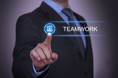 Businessman Selecting Teamwork Royalty Free Stock Images