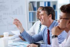 Businessman at the seminar Stock Photos