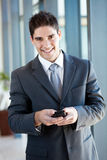 Businessman sending emails Royalty Free Stock Photo