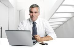 Free Businessman Senior Working Interior Modern Office Royalty Free Stock Images - 15919789