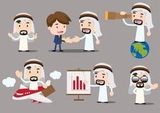 Businessman series - arab. Arab businessman character -various poses Stock Photos