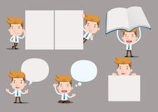 Businessman series - blank set. Businessman series - blank note, bubble, talk Royalty Free Stock Photography