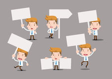 Businessman series - blank sign set. Blank note Royalty Free Stock Photo