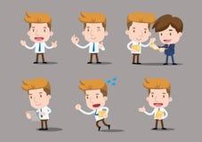 Businessman series - set. Communication,conversation, dialogue Stock Photo