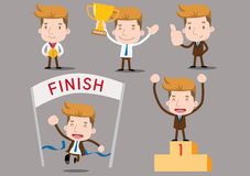 Businessman series - winner. Succes, trophy Royalty Free Stock Photography